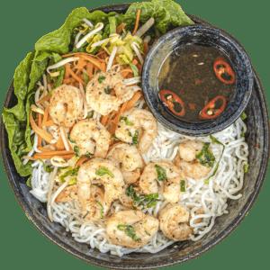 MamaHong Gepocheerde garnalen met groenten